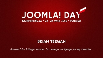 Brian Teeman - Joomla! 3 - A Magic Number